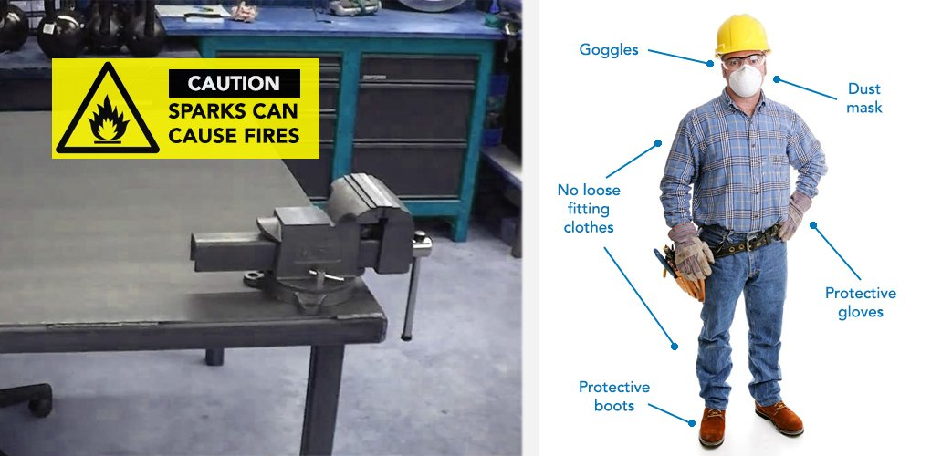 How to use an angle grinder safely correctly help - Cheque caution non rendu ...
